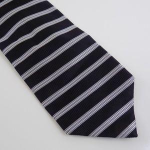Jos. A. Bank Men's Necktie Black Silver Striped